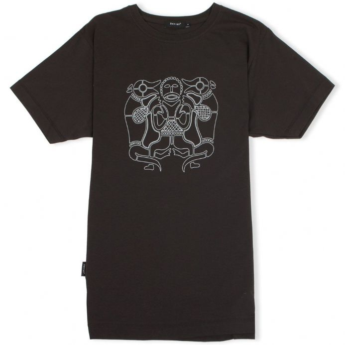 Tiw the Anglo-Saxon God - black t-shirt with Senlak branding on sleeve